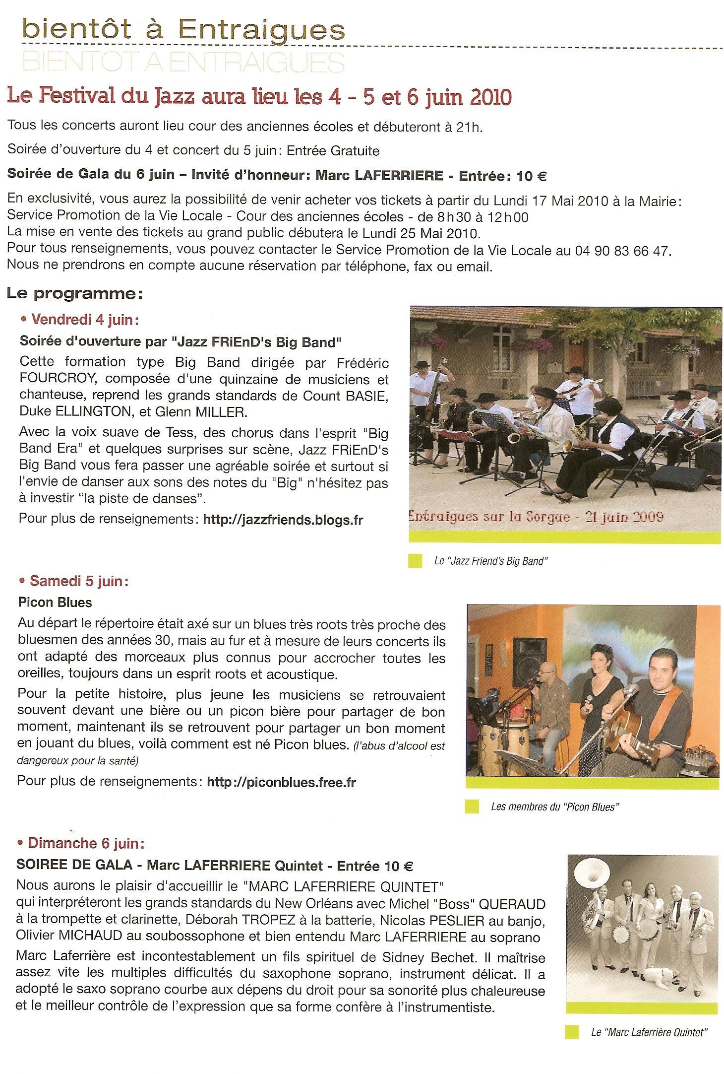 Bulletin municipal Entraigues mars 2010 1ere page